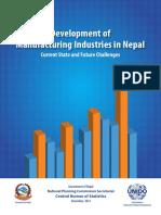 Devlopment of Manufacturing Industries in Nepal