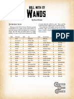 (PFRPG) Rusted Iron Games - Roll With It - Wands