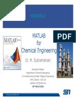 Matlab for Che Intro