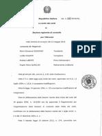 CORTE DEI CONTI Delibera 118 2016 e Relazione