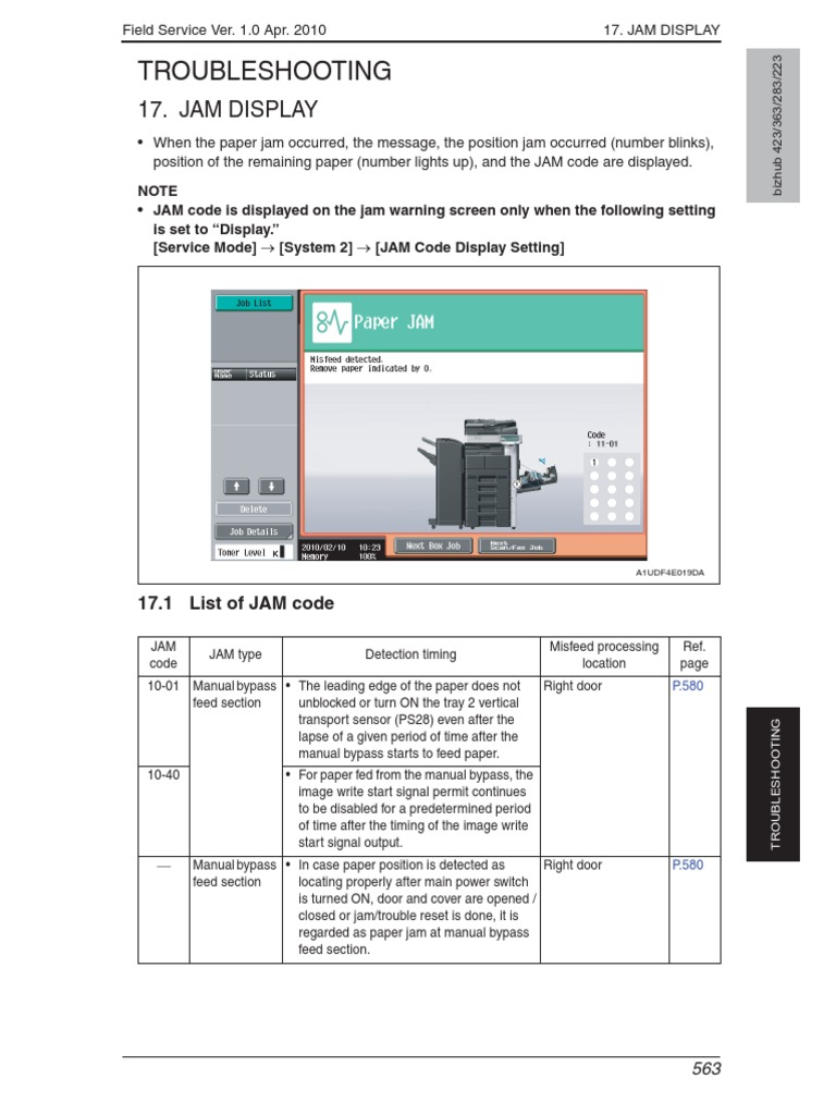 Minolta Bizhub 363 423 Troubel Service Manual | Charge Coupled Device |  Image Scanner