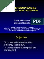 1. Iron Deficiency Anemia pada Anak