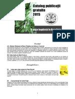 Catalog Publicaţii Baptiste Gratuite  2015