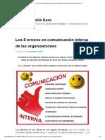 Los 5 Errores en Comunicación Interna de Las Organizaciones _ El Blog de Natalia Sara