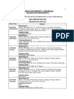 schedule of B.a,B.sc,B.com Part III Exam. 2016