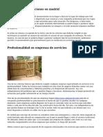 Empresa de reparaciones en madrid