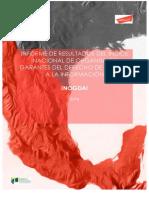 Índice Nacional de los Organismos Garantes del Derecho de Acceso a la Información (INOGDAI) 2016