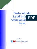 Protocolo de Salud Infantil. Atencion Al Nino Sano 2005