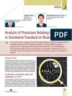 13 Analysis of Provisions Relating to Minutes in Secretarial Standard on Board Meetings