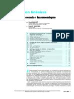Systemes Non Linéaires - Méthode Du Premier Harmonique