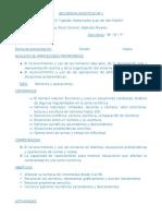 Secuencia Didáctica Nº 1 Matematica de 2º Grado