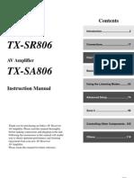 SR806 Onkyo User Guide