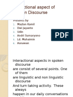 Interactional Aspect of Spoken Discouse