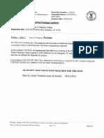 OSHA report on Memphis VAMC