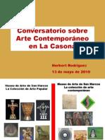 Reflexiones sobre el arte contemporáneo