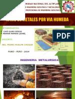 Exposicion de Metalurgica ExtractivaLa
