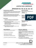 F.T. Compressor Oil VDL 46 .Español