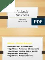 Altitude Disease
