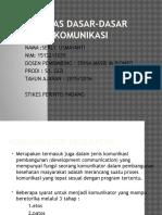 Tugas Dasar-dasar Komunikasi Komunikator Kesehatan