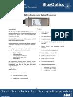 BlueOptics BO32J13210D 10GBASE-LR X2 Transceiver 1310nm 10 Kilometer Singlemode SC-Duplex 10 Gigabit