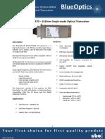 BlueOptics BO76JXX280D 10GBASE-CWDM X2 Transceiver 80 Kilometer Singlemode SC-Duplex 10 Gigabit