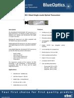 BlueOptics BO67JXX640D 10GBASE-DWDM XFP Transceiver C-band 40 Km Singlemode LC-Duplex 10 Gigabit