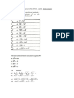 Lista Reforço Algebra + DG