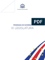CABO VERDE_Programa Do Governo IX Legislatura_2016