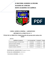 Informe qímica UNALM