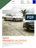 "RENAULT TALISMAN SPORT TOURER 1.6 dCi 160 FRENTE À VW PASSAT VARIANT 2.0 TDI NA ""TURBO"""