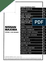 97 Nissan Maxima Service Manual