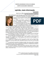 Padrões gráficos para inserção de comnetário no jornal