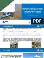 Difusión Resultados Monitoreo Calidad Del Agua - Embalses Sistema Hidráulico Río Chili