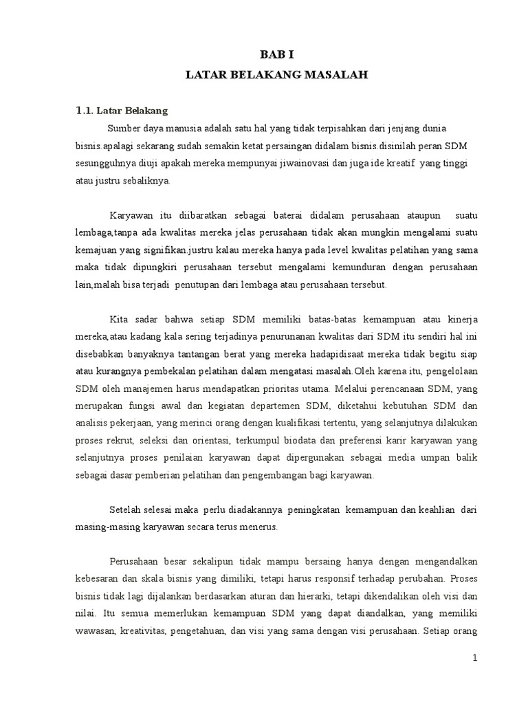 Doc Contoh Proposal Skripsi Manajemen Sumber Daya Manusia Ebaycool Cool Academia Edu