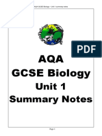 aqa gcse biology unit 1 summary notes