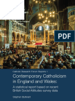 2016 May Contemporary Catholicism Report