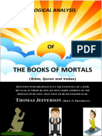 The Books of Mortals Analyzed(ISLAM, CHRISTIANITY AND THE VEDAS)