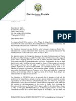 Carta Orrin Hatch-Junta de Control
