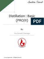 Basic Distillation - PRO II