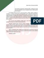El escrito del juez Sebastián Casanello