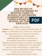 Flatbread Flyer for FTS Richmond