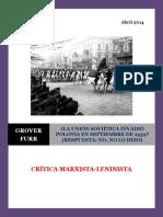 Furr - La Unión Soviética Invadió Polonia en Septiembre de 1939