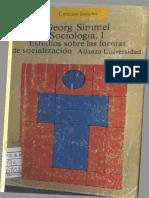 Simmel, Georg - Sociología, Estudios Sobre Las Formas de Socialización