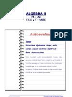 Autoevaluación de Estructuras Algebraicas