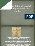 Psicologi¦üa de la Salud Presentacion El impacto de la enfermedad sobre los pacientes y sus familias