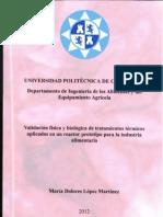 Tesis doctoral de María Dolores LópezMartínez