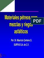 Materiales Pétreos Para Mezclas y Riegos Asfálticos