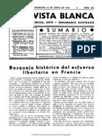 Revista Blanca La FORA y Las Luchas Sociales de Argentina y América, Federico Barreda 22 Giu 1934