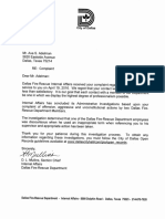 Dallas Fire/Rescue - Reprimand and Original Complaint
