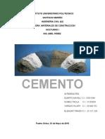 Trabajo de Cemento